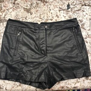 faux leather cute shorts